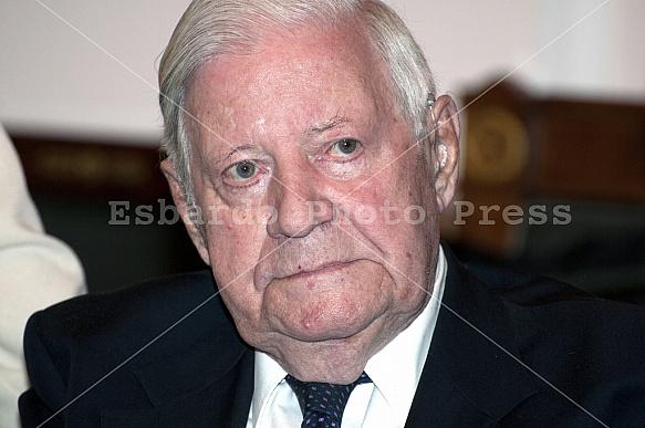 Dinner for Former Federal Chancellor Helmut Schmidt