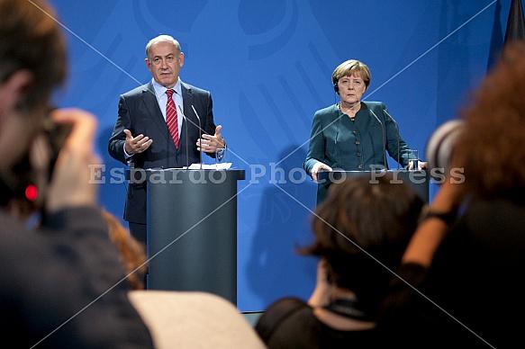 Angela Merkel receives the Prime Minister of Israel Benjamin Netanyahu