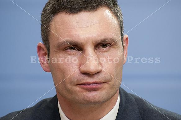 Press conference with Vitali Klitschko, Arseni Jazenjuk and Andreas Schockenhoff
