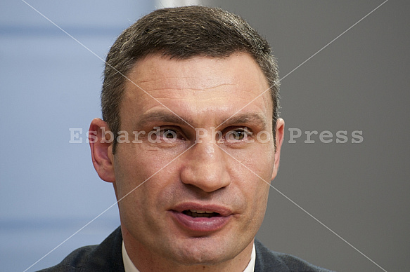 Press conference with Vitali Klitschko, Arseni Jazenjuk and Andreas Schockenhoff