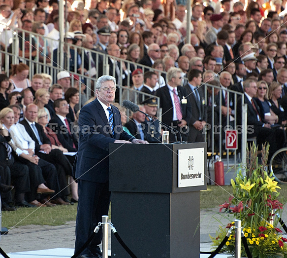 Solemn swearing ceremony of the soldiers of the German army