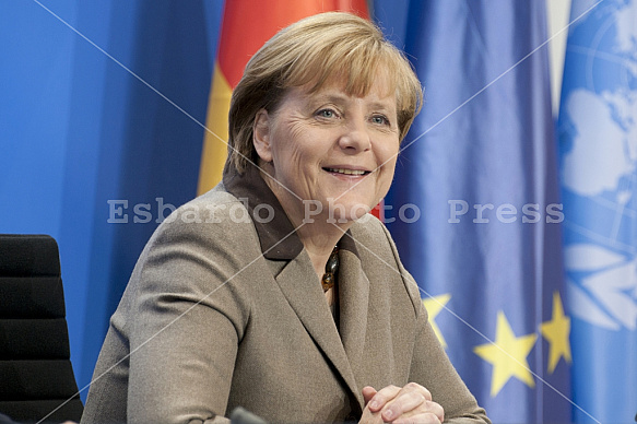 Angela Merkel receives Secretary-General of the United Nations, Ban Ki-moon
