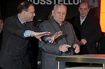 Mikhail Gorbachev at Checkpoint Charlie