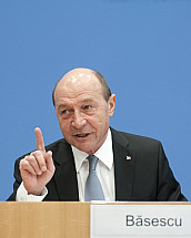 The President of Romania Traian Băsescu at the Federal Press Conference