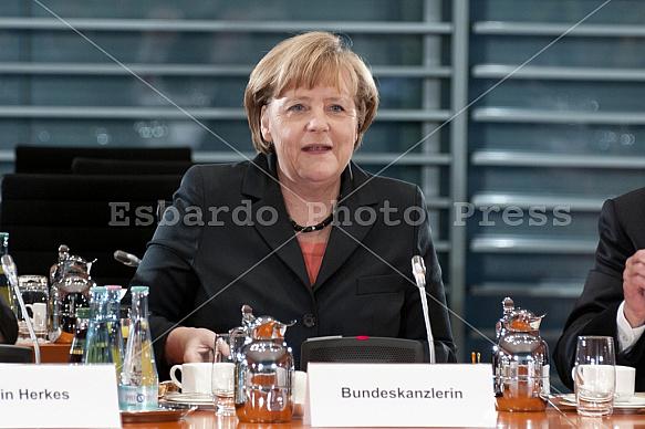 Meeting Of Angela Merkel with the Chefs of the Bundesländer