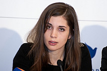Pussy Riot press conference for the ''Cinema for Peace'' charity gala