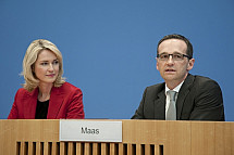 Press conference of Manuela Schwesig and Heiko Maas