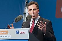 David McAllister (CDU) Campaigns For European Parliament in Berlin