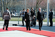 Angela Merkel receives the Prime Minister of the Czech Republic Bohuslav Sobotka