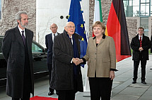 State visit of Napolitano in Berlin