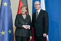 Angela Merkel receives the Prime Minister of the Czech Republic Bohuslav Sobotka