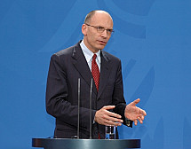Angela Merkel meets Enrico Letta in Berlin