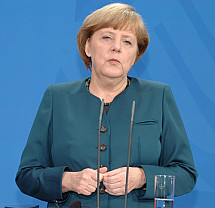 Angela Merkel receives Sheikh Hamad Al-Thani