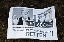 Protests at East Side Gallery