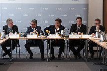 The President of the Federation of German Industries (BDI) Ulrich Grillo meets the VAP association