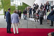 Angela Merkel receives the Prime Minister of Poland Andrzej Duda