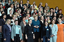 The 100 most successful women meet Angela Merkel