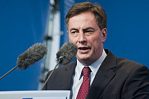 David McAllister (CDU) Campaigns For European Parliament in Berlin