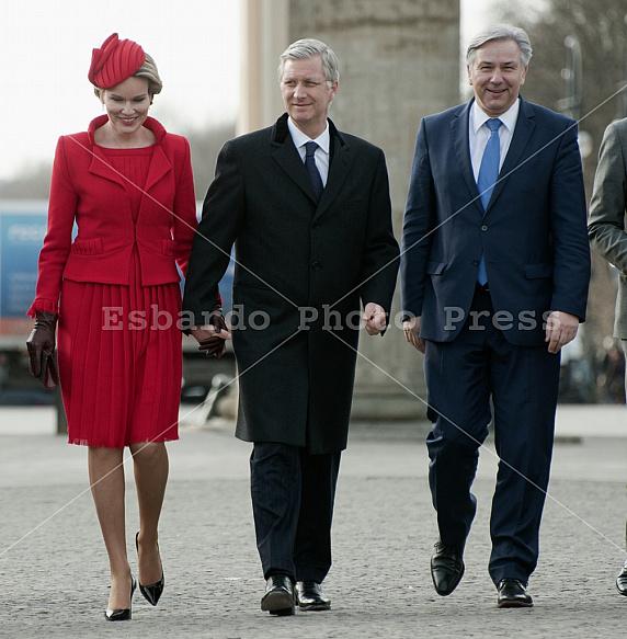 King Philippe and Queen Mathilde of Belgium in Berlin