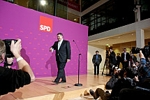 Press conference of Sigmar Gabriel