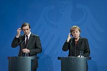 Angela Merkel receives the Prime Minister of Portugal Pedro Passos Coelho