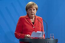 Angela Merkel receives the Prime Minister of France Manuel Valls