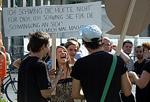 SlutWalk Berlin 2011 manifestation in Berlin