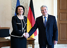 State visit of the President of Kosovo Atifete Jahjaga in Berlin
