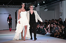 Micaela Schäfer provokes scandal at Berlin Fashion Week