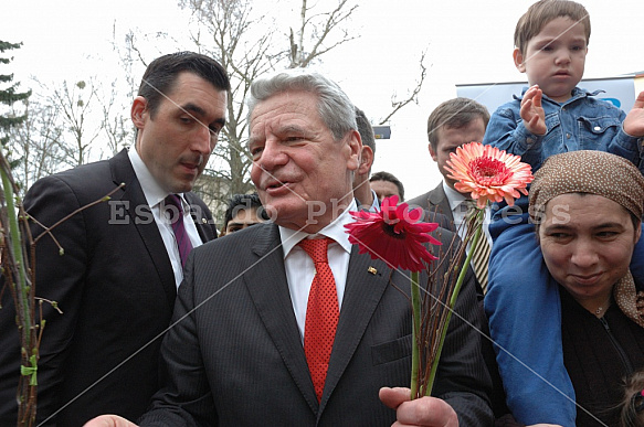 Joachim Gauck participated in the celebrations for the 60th anniversary of Marienfelde
