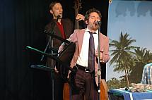 Concert of Toni Mahoni and Peppe Voltarelli in Berlin