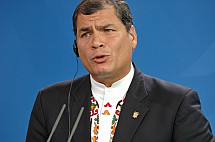 Press conference of Angela Merkel and Rafael Correa Delgado