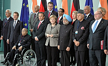 Angela Merkel meets Indian Prime Minister Manmohan Singh