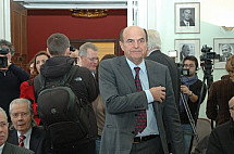 Pier Luigi Bersani in Berlin before the elections in Italy