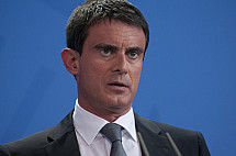 Angela Merkel receives the Prime Minister of France Manuel Valls